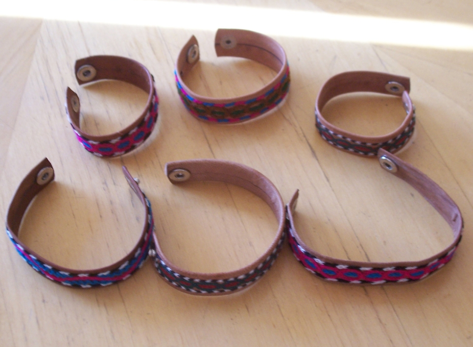 Embroidered Leather Bracelets